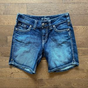 🚨50% OFF🚨 Silver Jean Shorts